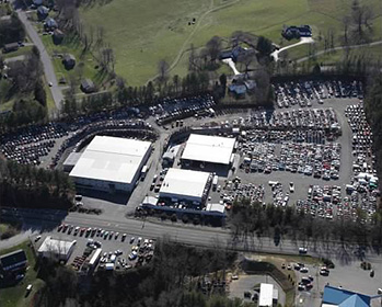 Aerial view of Bill's Used Auto Parts